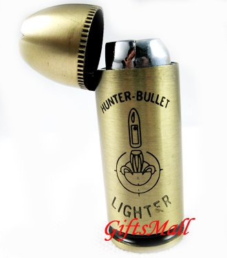 Brass Hunter Bullet Cigarette Lighter New