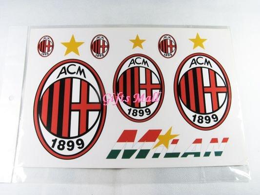 FC Club Sports Football Car Sticker AC Milan