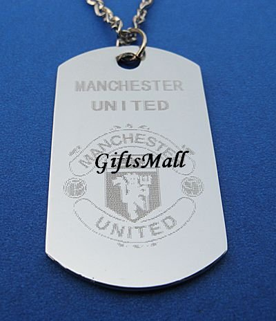 Manchester United  FC Club Football Sport Soccer Dog Tag Necklace