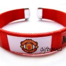 Manchester United FC Club Football Sport Adjustable Bangle Bracelet New