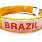 Brazil FC Club Football Sport Adjustable Bangle Bracelet New