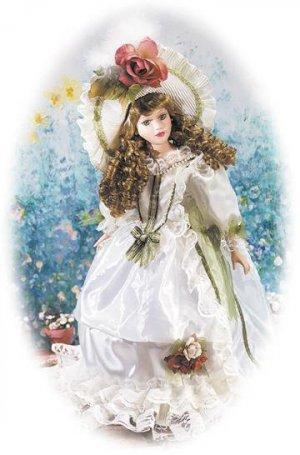 """18"""" Porcelain Victorian Doll - Gwyneth"""
