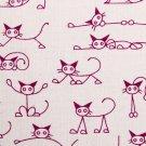 110cmx90cm//cute cats//Pink