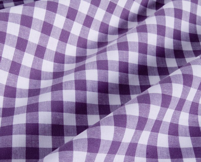 chic purple check//cotton
