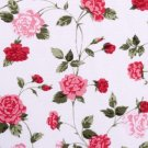 Kawaii flower//oxford//red//cotton
