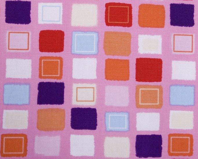 Cute square//red//cotton//oxford