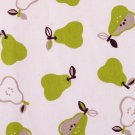 Kawaii apples oxford 20s//natural green//cotton
