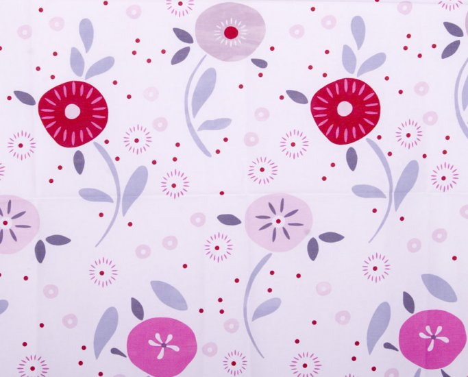 Circular flower oxford 20s//pink//cotton