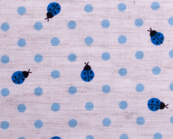 Dots and goldbugs//linens//blue
