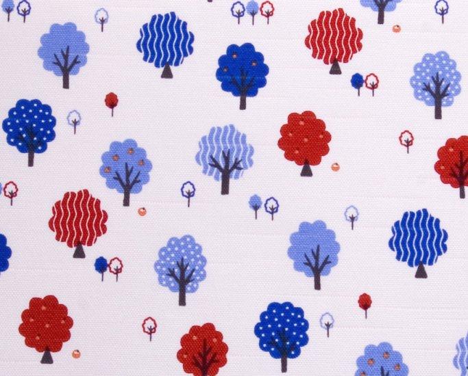kawaii trees//blue//slub