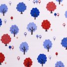 kawaii trees//blue//slub