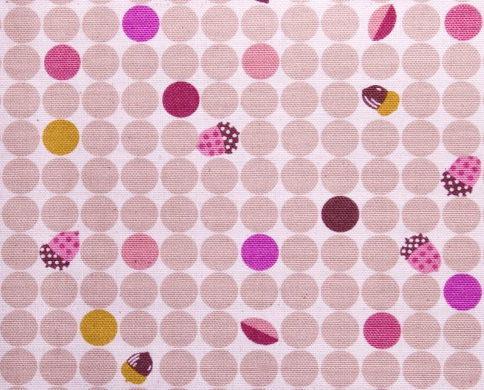 Brown Dots and Acorns//pink//oxford