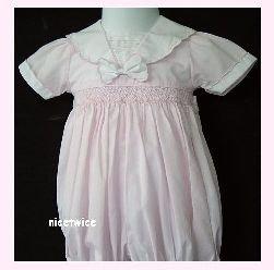 Carriage Boutiques Girl Pink Shirred Easter Bubble 6 M