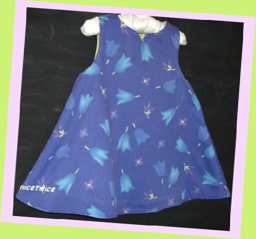 Morese Girl Blue Tulip Dress Lined 18 M 81 EUR