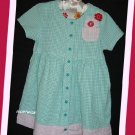 Zutano Girl Aqua Gingham Seersucker SS Dress 2
