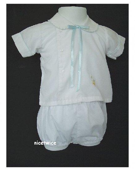 House of Hatten Boy White Easter Shorts Set 6 M