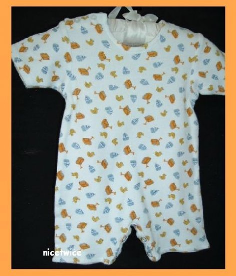 Zutano Infant Boy Romper Longall Sailboat Wagon 0 3 M