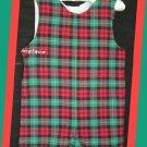 RagsLand Boy Red Green Plaid Lined Jon 18 M