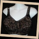 Breezies Lace Overlay Soft Cup Bra Ultimair Black 40D