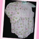 Little Me Infant Girl Pink Romper With Hat Flowers 6 M