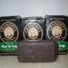 Lot 8 GRANDPA Soap Pine Bath 4.25 Oz Natural Soap Oily Skin Acne Men Women Brown UPC 010486007011