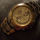 "New Mens Gold And Silver Tone Watch 8"" Length Multi Tone Stainless Steel Back UPC:"