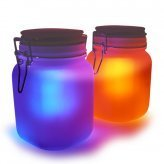Moon Jar - Solar Power LED Mood Light - SET OF 4