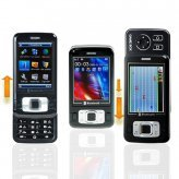 Dual Slide Cell Phone - 2.7 Inch Dual SIM/Tri-Band Black Mobile