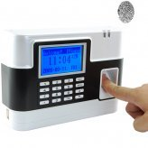 Fingerprint Time Attendance And Door System (White)