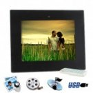 10.4 Inch Digital Photo Frame with Remote & Media Player (Black)