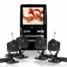 Wireless Baby Monitor Set - 2.4GHz MP4 + 4 Wireless Cameras
