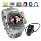 Gauntlet Stainless Steel Quad Band Watchphone + MP4