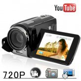 Youtube Direct 720P Touchscreen HD Camcorder (20x Zoom)