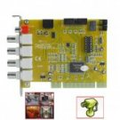 2-CH Real Time Video + 1-CH Audio DVR Card - Motion Detection