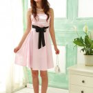 Charming Strapless Silky Satin Cocktail Dress - Pink