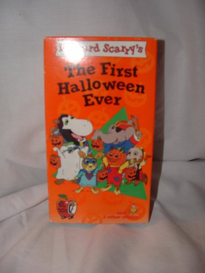 EUC Richard Scarry's THE FIRST HALLOWEEN EVER VHS