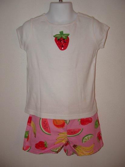 NWT Girls GYMBOREE Tutti Fruiti Shirt Short Set 3