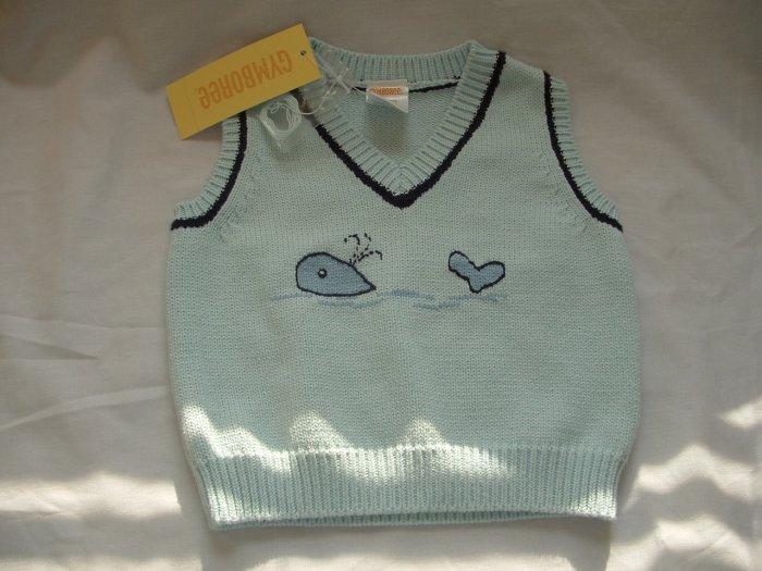 NWT Boys GYMBOREE Whale Watching Vest Sweater Sz 3-6 Mo