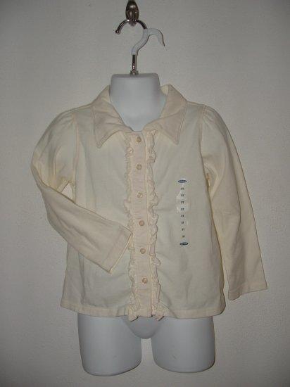 NWT Toddler Girls OLD NAVY Long Sleeve Shirt Sz 3T