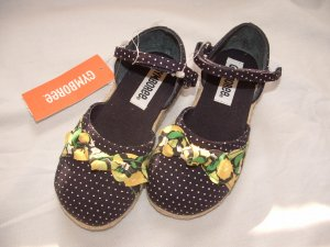 NWT Girls GYMBOREE Prep Club Espadrille Sandals Sz 8M