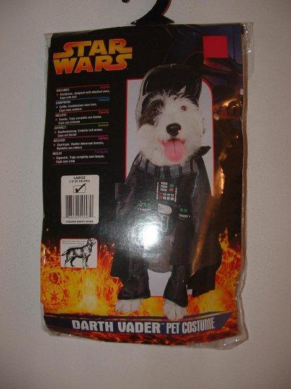 NIP Large Dog STAR WARS DARTH VADER Costume HTF