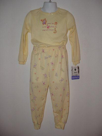 *NWT* Girls CARTERS 2pc Fall Princess Pajamas Size 4T