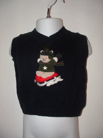 Boys KRU Winter Sleding Vest Sweater Sz 6-9 Mo *EUC*