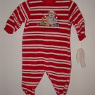 Boy Girl MY FIRST CHRISTMAS Velour Romper Sz 0-3 Mo NWT