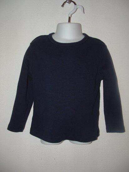 Girls SONOMA Long Sleeve Navy Blue Shirt 4-5 **EUC**