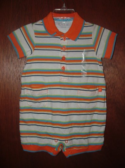 *NWT* Boys CHILDRENS PLACE Stripped Short Romper 3-6 Mo