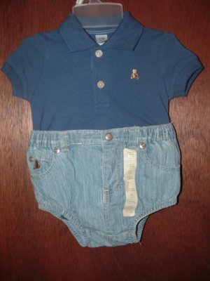 *NWT* Boys BABY GAP 2pc Polo Short Set 3-6 Months CUTE!