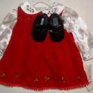 *NWT* Girl BT KIDS 3pc Xmas Dress Set 3-6 Months !CUTE!