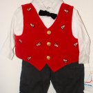 *NWT* Boys BT KIDS 4pc Xmas Pants Set 3-6 Months !CUTE!