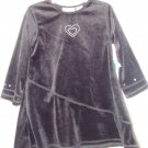 *NWT* Girls PAB Black Velour Heart Dress 2T
